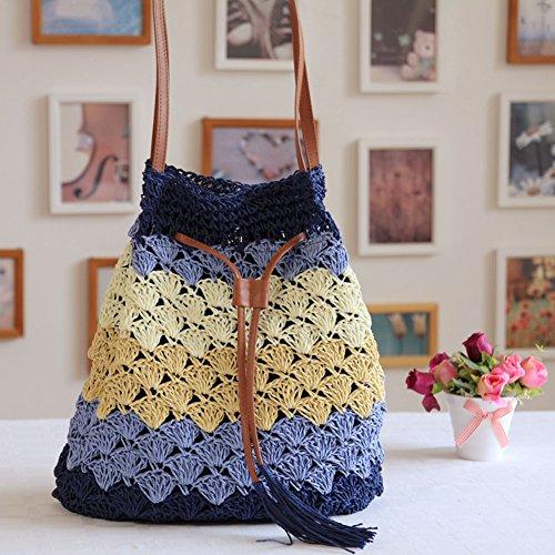 per secchio a borsa fairysan blue stile lavoro per da borsa maglia Uq6wWgTnS 12d637f7550