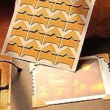 HuaYang Retro foto auta-adhesivo bricolaje Scrapbooking papel arte pegatina 24 en 1(amarillo)