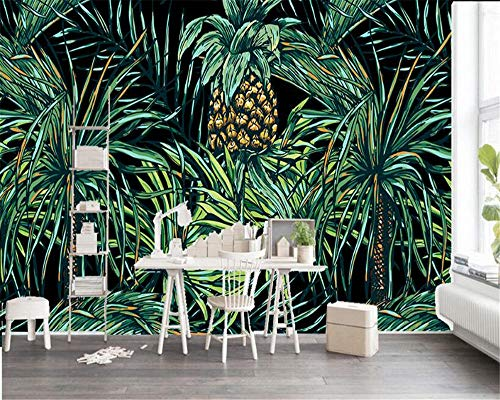 3d wallpaper gemalt südostasiatischen stil palm tree leaf wand wohnzimmer schlafzimmer tv hintergrundbild foto wand vlies dekorative kunst malerei - Palm Girl Poster