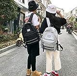 SEBAS Home Persönlichkeit Rucksäcke High School Student Bag Casual Schultasche Rucksack mit großer Kapazität (Color : Grey)