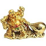 Ryme® Vastu/feng Shui Laughing Buddha for Wealth and Buisness (Buddha with Money Potli)