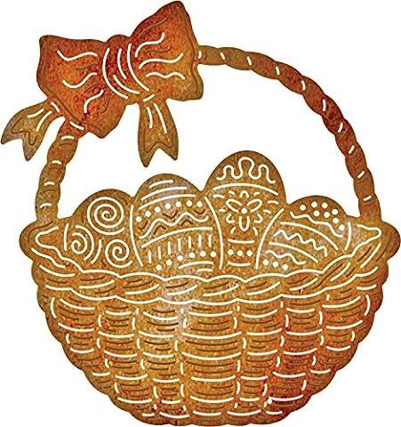 Cheery lynn metal cutting Die Easter egg Basket B526