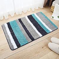 Mehrfarben Gestreifter Weicher Hochflor Saugfähig Antirutschmatte Teppich,Anwendbar Auf 45 * 65Cm Zu 50 * 80 Cm... preisvergleich bei billige-tabletten.eu