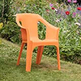 "Resol ""Cool"" Garden Outdoor / Indoor Designer Plastic Chair - Orange - Garden Furniture (1 Chair)"