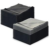 Lot de 24 Charm & Magic Chiffons de Nettoyage en Microfibre pour Nettoyer Lunettes, Caméras,Tablettes, Écrans LCD…