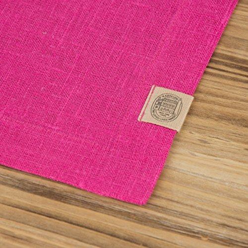 Leinen-Tischset Platzset Erik 37x50cm cerise pink