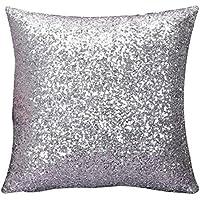 Cuscino,WINWINTOM Solido Colore Glitter Paillettes Tiro Del Cuscino Di Caso Cafe Home Decor Cuscini Argento