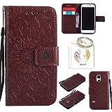 für Samsung Galaxy S5 Mini Geprägte Muster Handy PU Leder Silikon Schutzhülle Handy case Book Style Portemonnaie Design für Samsung GalaxyS5 Mini + Schlüsselanhänger(/*18) (6)
