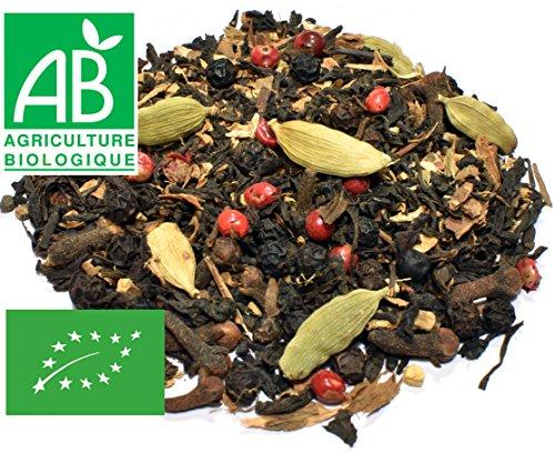Thé noir Chaï Bio 200g (avec cannelle, gingembre, girofle, cardamome...)