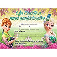 Amazon la reine des neiges invitations dcorations et 10 cartes invitation anniversaire la reine des neiges frozen in french stopboris Images