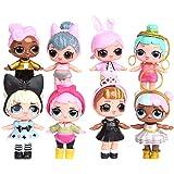 LOL Surprise Girl Doll Cake Topper Pastel Decoración Suministros 8Pcs Surprise Doll Figures Muñeca Hecha a Mano Muñeca Decora