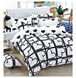 ShopyBucket Fancy & Durable comforters king size 230x250cm with bedsheet(4 Piece Combo Set of Double Luxurious Reversible Comforter and Premium Elegant Bedsheets with 2 Pillow Covers)