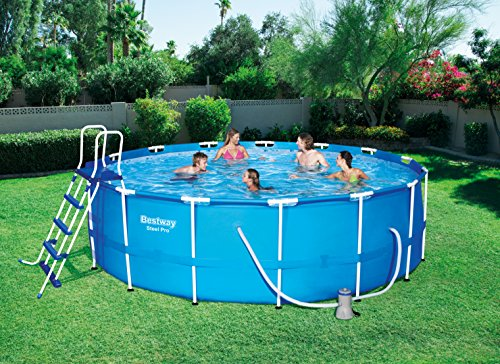 Bestway 56713 Piscine Hors Sol Power Steel, Bleu
