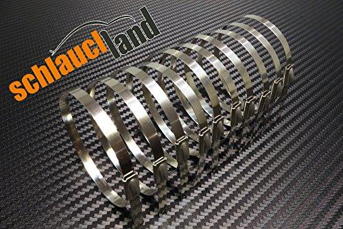 10x Kabelbinder Edelstahl 300 mm*** Schlauchschelle Hitzeschutzband Heat Wrap