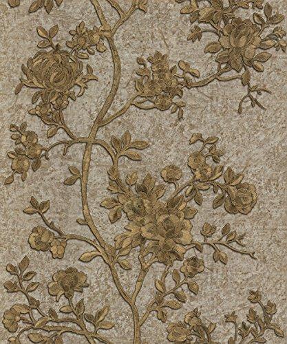 roberto-cavalli-wallpaper-caracterstica-modelada-floral-brown-del-oro-de-70-