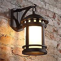 Wandlampe Retro- im Freienwand-Lampe / imprägniern Garten-Lampen- / Treppenhaus-Balkon-Wand-Lampe / E27 Lichtquelle ( Farbe : Antik Farbe )