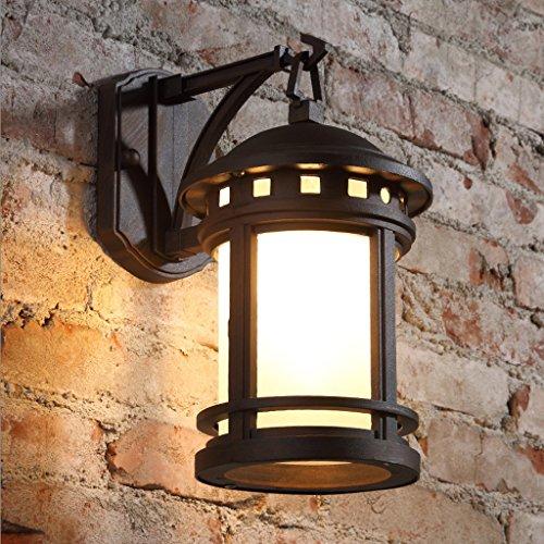Wandlampe Retro- im Freienwand-Lampe/imprägniern Garten-Lampen- / Treppenhaus-Balkon-Wand-Lampe / E27 Lichtquelle (Farbe : Antik Farbe)