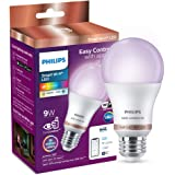 Philips Smart Wi-Fi LED Bulb E27 9-Watt WiZ Connected (16 Million Colors + Warm White/Neutral White/White + Dimmable…