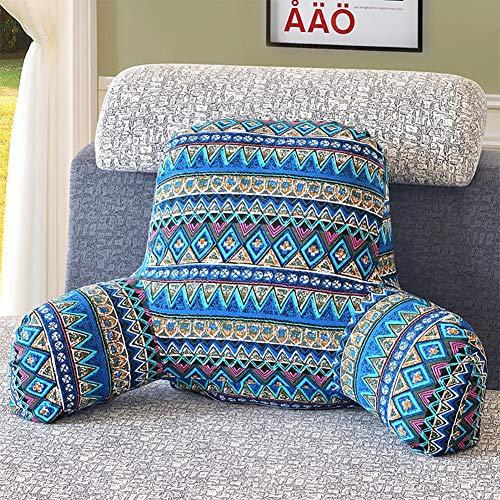 Komfortables Lendenkissen Lesekissen Rückenkissen Bücherkissen Fernsehkissen Bedrest Weich Plüsch Kissen für Auto, Bett, Büro-Stuhl und Sofa -