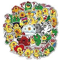 XCVBN Net Red Little Yellow Duck Sticker Mini Cute Frog Funny Suitcase Sticker Computer Phone Sticker 40Pcs