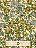Tapetenkunst 2019, Wandkalender / Designkalender im Vintage-Look auf Naturpapier im Hochformat (50x66 cm) - Grafik-Kalender mit Monatskalendarium Vergleich
