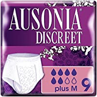 Ausonia Discreet Plus Braguitas Pants para Pérdidas de Orina, Talla M - 9 Unidades