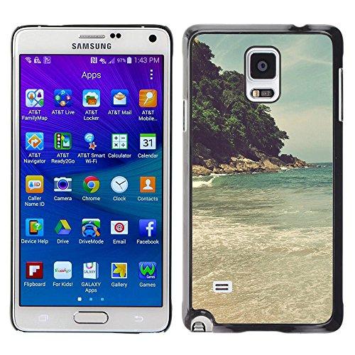 PERFECT GIFT SPGECELL CASE / Téléphone Intelligent Dur Étui de protection PC Housse Coque / Hard Case for Samsung Galaxy Note 4 / Island Beach Sea Wave /Island Beach Sea Wa