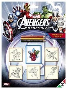 MULTIPRINT Avengers - Juegos de Sellos para niños, Caucho, Madera, 3 año(s), Italia, 210 mm, 20 mm