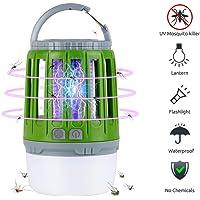 Linkax Zanzariera Elettrica,Lampada Antizanzare,2 in 1 Lampada Anti Zanzara,USB Repellente per zanzare Lampada,Adatto per uso Interno ed caccia, campeggio, pesca(verde)