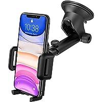 Mpow【Versione Aggiornata】Supporto Smartphone per Auto con Regolabile Clip per Cruscotto e Parabrezza, Porta Cellulare da…