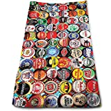 WBinHua Handtücher, Sporthandtuch, Beach Towel, Microfibre Towel Hand Towels, Beer Bottle Caps Soft Cotton Large Hand T