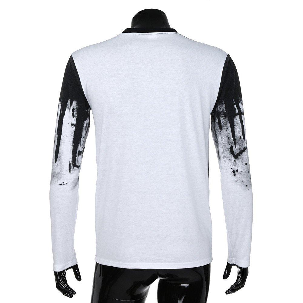 ALIKEEY Men  S Slim Gradiente Camiseta De Manga Larga De Manga Larga ... 1c67538b2d51