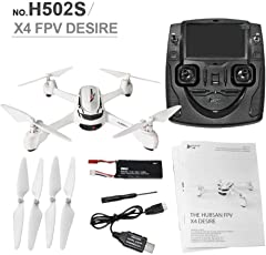 Hubson X4 H502S 5.8G FPV with 720P 2.1 MP HD Camera Drone GPS Altitude Mode RC Quadcopter LCD Remote Screen
