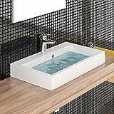 Design Waschbecken aus Gussarmor - Eckig Waschbecken Waschplatz - Waschtisch