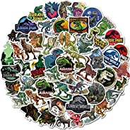 Jurassic Dinosaur Stickers of 50 Vinyl Decal Merchandise Laptop Stickers for Laptops, Computers, Hydro Flasks,