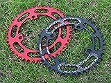 grofitness BCD 104schmal breit Bike Kettenblatt Mountain Bike Komponenten Single Speed Kettenblatt, schwarz