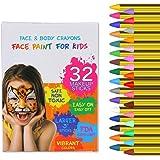Twister.CK 32PCS Pastelli per Pittura per Il Viso per Bambini, Colori da 3,2 Pollici Pastelli per Trucco per Pittura del…