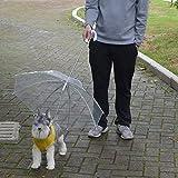 zhxinashu Ombrello trasparente per animali domestici con guinzaglio per cani che mantengono l'animale a secco comodo in caso di pioggia e neve
