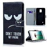 BESTCOOL Samsung Galaxy Note 4 Smartphone (Ecran:5.7 pouces) Etui de Protection/Case Coloré en Cuir avec une fermeture latérale et dépliant Image colorée d'une caractaire simple