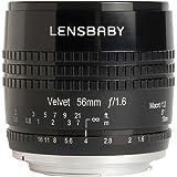 Lensbaby Velvet 56 Nikon F / Porträt und Makro Objektiv / ideal für samtige Bokeh-Effekte und kreative Unschärfe / Brennweite 56 mm, Blende f/1,6 / 1:2 Makro Vergrößerung mit 13 cm Naheinstellgrenze / passend für Nikon Systemkameras und Spiegelreflexkameras