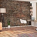 decomonkey | Fototapete Ziegelsteine 400x280 cm XL | Tapete | Wandbild | Wandbild | Bild | Fototapeten | Tapeten | Wandtapete | Wanddeko | Wandtapete | grau Textur Stein Muster Stein