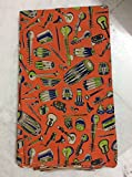 #4: 1 meter Orange Kalamkari Cotton fabric unstiched