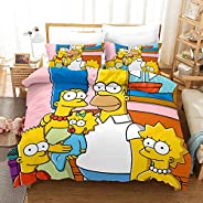 Vampsky Personalise Comedy The Simpsons Teenagers Bedding Sets Kids Clubhouse Super Soft Luxury 3 Piece Twin Size In Classic
