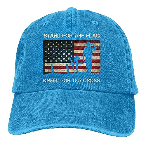 Zhgrong Caps Unisex Patriotic American Flag Veterans Day Vintage Jeans Baseball Cap Classic Cotton Dad Hat Adjustable Plain Cap ny Cap -