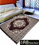 #1: Ab Home Decor Velvet Touch Abstract chenille carpet for living room bedroom drawing room dining hall 5 feet x 7 feet,(Coffee)