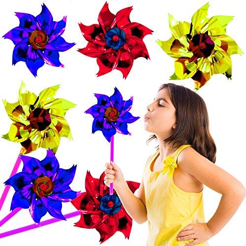 - 6 x Party Regenbogen Windräder ┃ NEU ┃ Mitgebsel ┃ Party Hit ┃ Kindergeburtstag ┃ Kinder Überraschung ┃ 6 Stück (Regenbogen-windrad)
