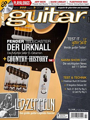 Fender Telecaster - guitar Magazin mit Play along CD - Interviews - Workshops - Gitarre Playalongs - Gitarre Test und Technik