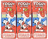 Feiraco Yogu+ Azucarado con Fresa - Paquete de 8 x 600 ml - Total: 4800 ml