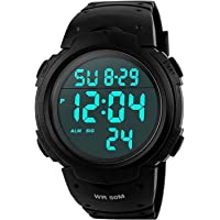 Mens Sports Digital Watches - Outdoor Waterproof Sport Watch with Alarm/Timer, Big Face Military Wrist Watches with LED…