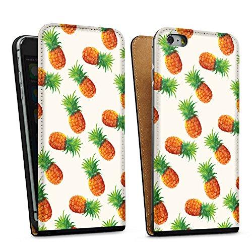 Apple iPhone 5s Housse Étui Protection Coque Ananas Été Années 90 Sac Downflip noir